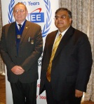 Du Toit Grobler, president SAIEE and Ajay Pandey MD and CEO of Neotel